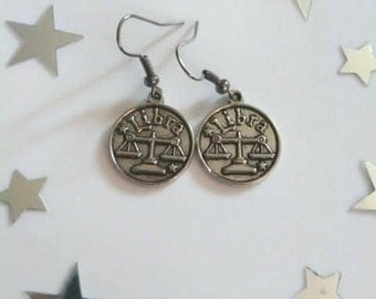 Zodiac Sign Libra Earrings