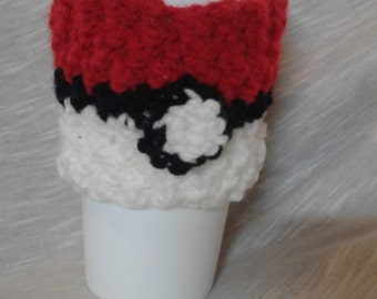 Crocheted Pokeball Cup Cozy