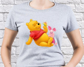 Winnie the Pooh/ Winnie the Pooh with Piglet/ womens tshirt/ Winnie the Pooh tshirt/ Winnie the Pooh tee/ Winnie the Pooh shirt/ tee/ (WP10)