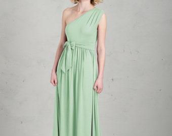 Long Bridesmaid Dress - Linnea, Mint Green