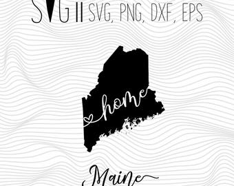 Maine Silhouette Etsy