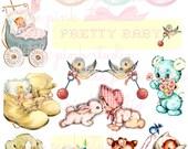 Pretty Baby, druckbare Collage Sheet (digital Download, zum ausdrucken)