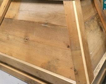 "30"" antique barnwood vent hood"
