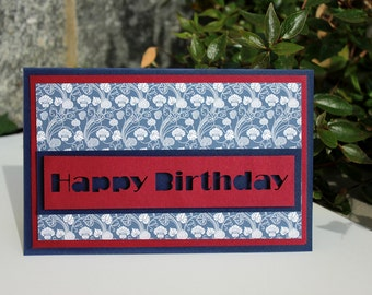 Birthday Card, Funny Card, Cute Card, Greeting Card, Scrapbooking Card, Happy Birthday, Artist Card, Liberty Card, Card for boys