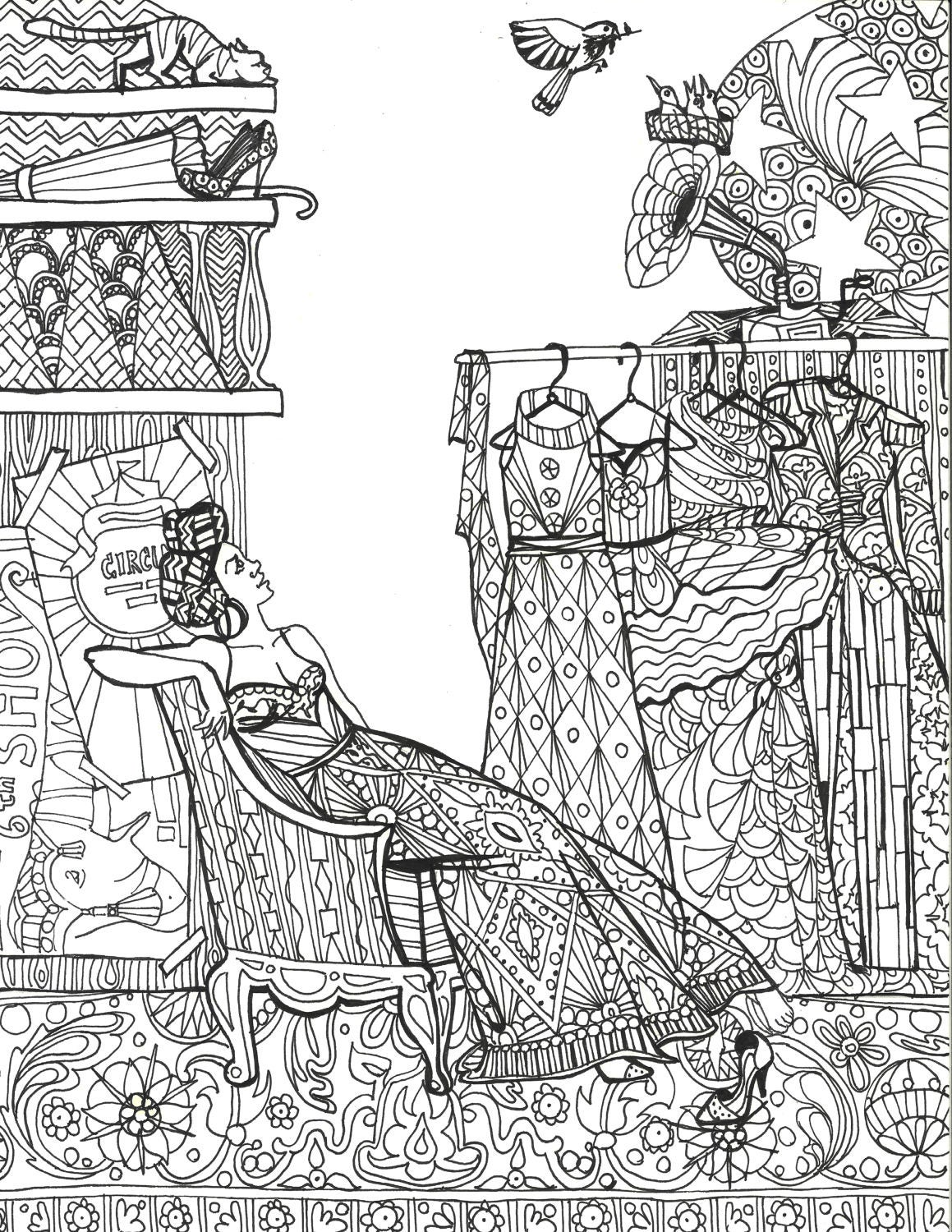 Diva coloring page for Diva coloring pages