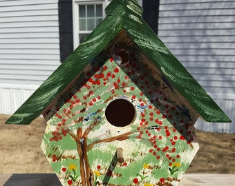 Hand Painted and Hand Crafted Bird House