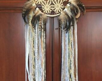 Handmade Dream Catcher, Feather, Boho