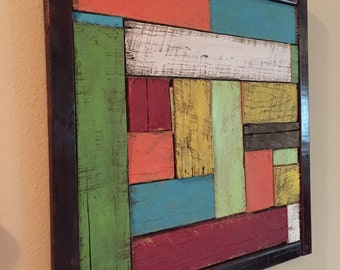 Custom Painted Abstract Pallet Art