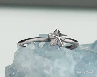 Sterling Silver Star Ring Solid .925 Tiny Star Rings Custom Sizes