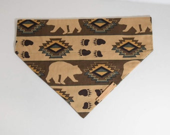 Bear aztec over the collar bandana