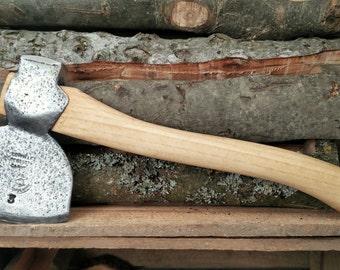 Vintage restored British woodworking survival forest bushcraft camping single bit axe hatchet