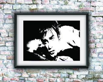 Iggy Pop, Stooges, grunge art, street art, graffiti, digital art, printable, wall decor, music poster, digital download, pop art, punk rock