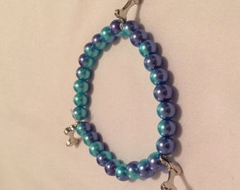 Dog Bone Charm Bracelet