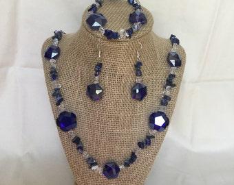 44: Necklace, Bracelet, Earrings Set