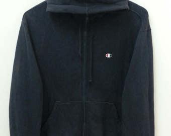 CHAMPION// Hoodie Zipper//Black Color//Size M
