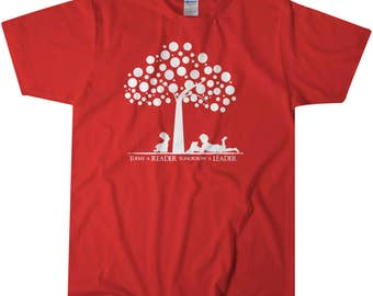 Today A Reader Shirt | Youth Tops | Kids tops | Books | Kids Tshirt | Name Shirt | Kids Graphic Shirt | Kids Tees | Children Tops