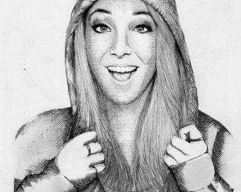 Jenna Marbles Realism Drawing