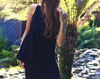 Nina Skirt - black lace insert pencil skirt