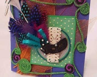 Mardi Gras themed greeting Card