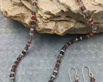 Pathways - gemstone and crystal necklace