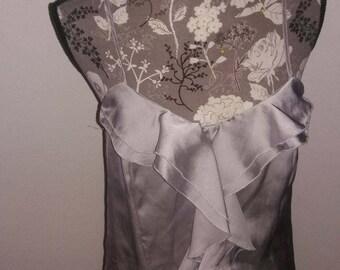 Silk, Ruffle Cami  size Medium