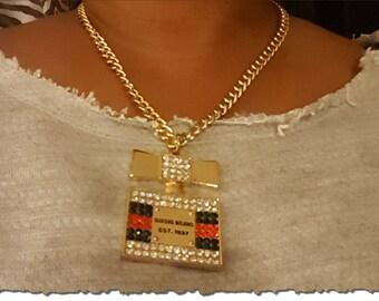 Gold Perfume Necklace Set