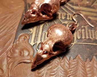 WHISPER Copperformed Sparrow Skull Earrings