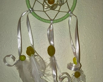 Green/white/yellow dream catcher