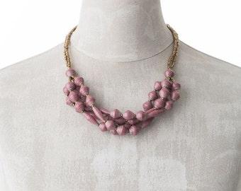 Paper necklace FELISTAS   Red-Brown   Uganda