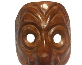 Brighella Leather Commedia dell'Arte Mask