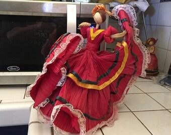 Corn Husk Dancing Woman