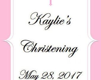 Christening Sign