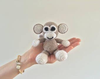 Monkey monkey, Handmade handknitting Amigurumi, crochet, Stuffed animals, stuffed animal children, Gift Decoration, textile Art - MondeCreatif