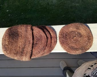 Chocolate Wool Felted Coaster Set