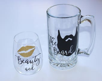 Beauty and the Beard Drink Set