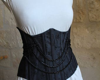 Corsets underbust duck with channels and details on tones tones