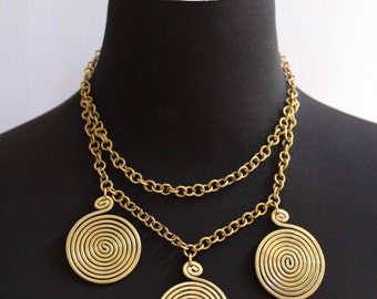 Statement Gold Layered Necklace