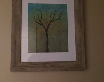Abstract tree oil Painting