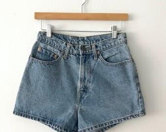 VTG 1970s Jordache Blue Denim High Waisted Daisy Duke Shorts S M