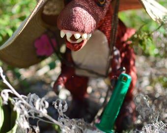 Gardening Dinosaur - Monty Rex Photo Series - Photography