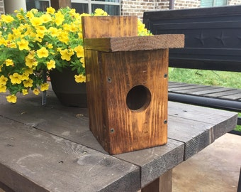 White Pine Wood Birdhouse