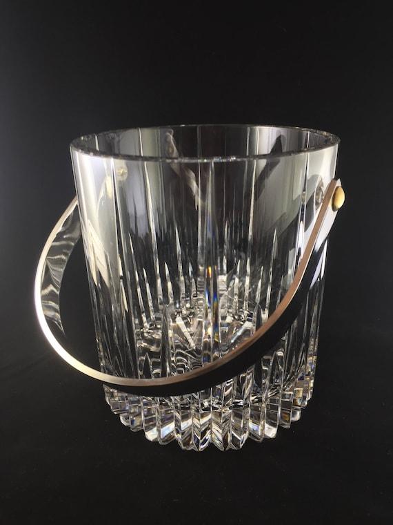 Mikasa Arctic Lights Fine Crystal Ice Bucket Silver Handle