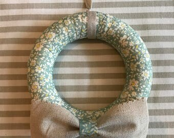 Floral Ribbon Wreath with Bow detail (12cm)