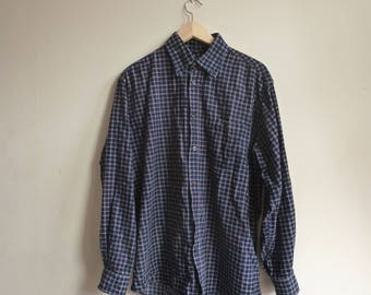 OVERSIZED CHECKED SHIRT soft cord/blue