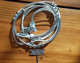 Necklace, wrap, bracelet, beads, charms
