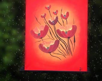Poppy flowers, original