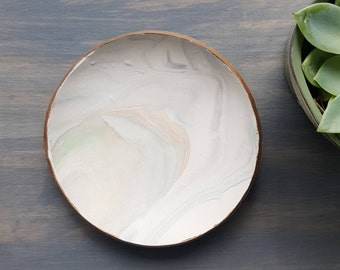 Pale Green Marbled Ring Dish