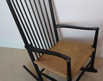 Vintage Hans Wegner J16 Danish rocking chair
