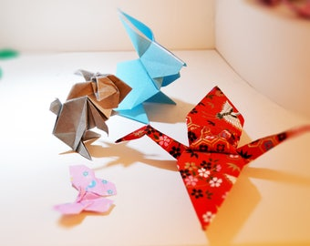 Origami animals with choosable color
