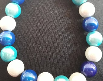 Glow Bead Necklace Beautiful Blues